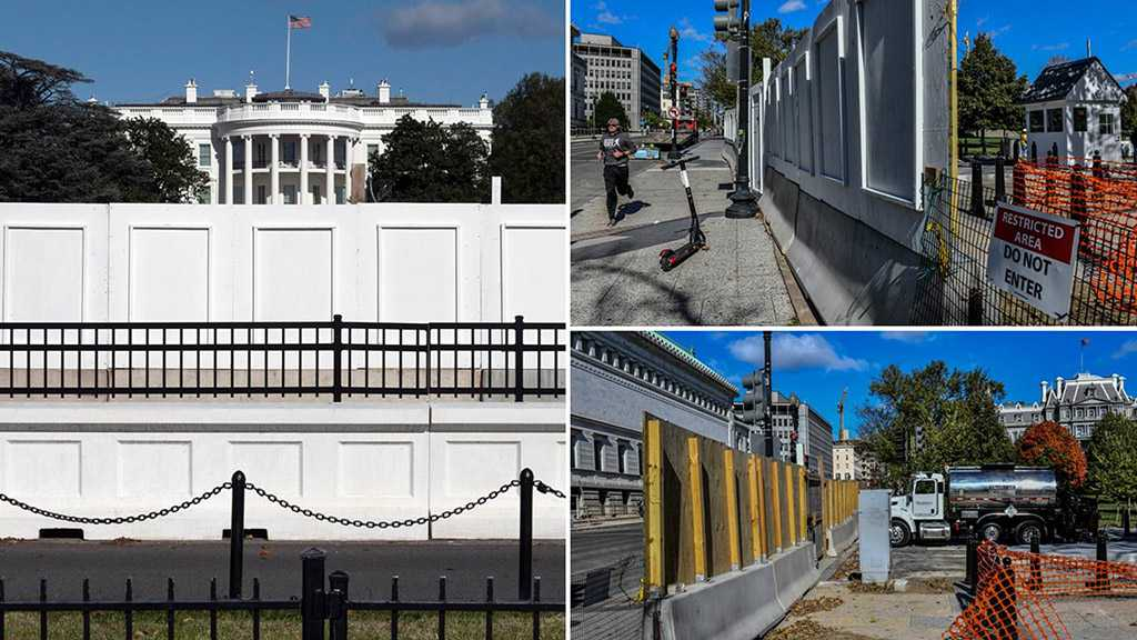 White House Barricaded Over Fears of Unrest