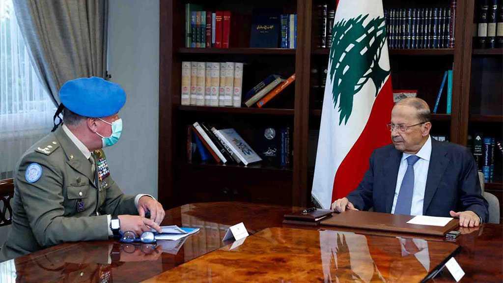Lebanon's Aoun Urges Del Col to Correct Blue Line
