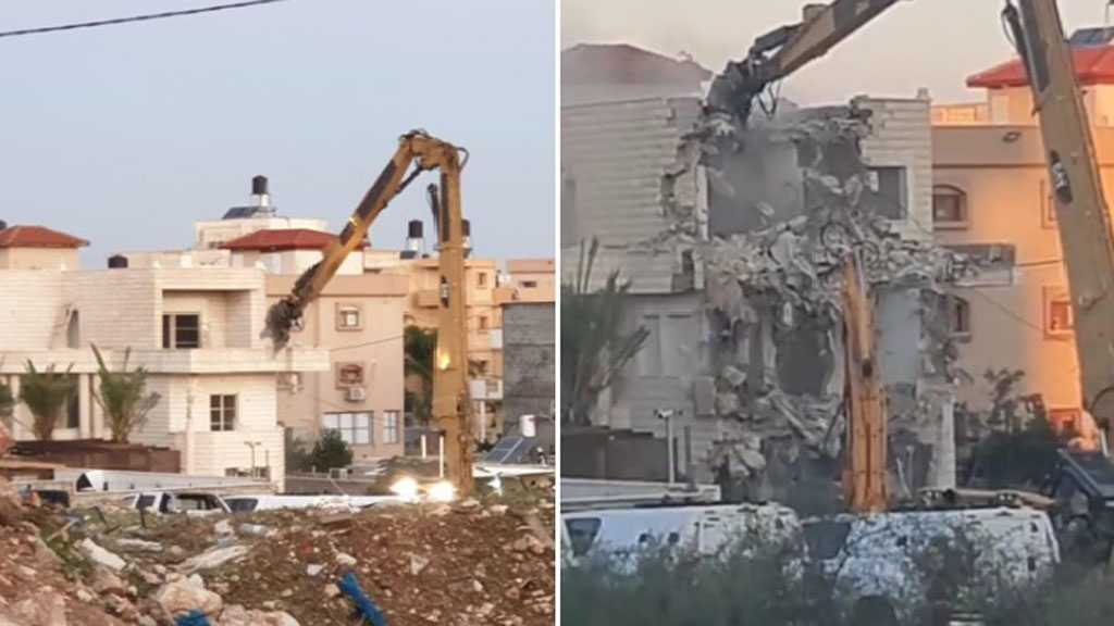 'Israeli' Troops Demolish House Belonging to Palestinian Family of Eight in Kafr Qassim
