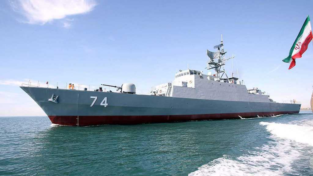 Iran's Navy Stages War Drills, Receives Two Warships