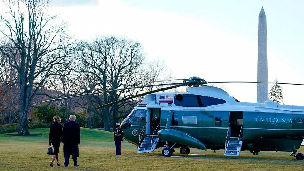 Trump Leaves White House, Last Time as POTUS