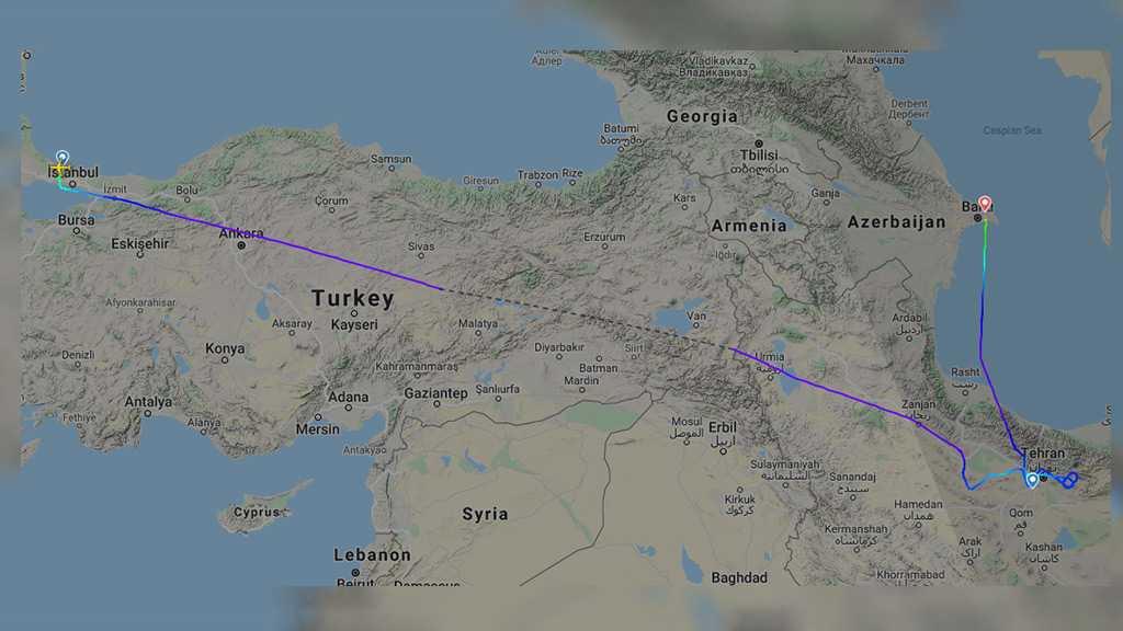 Turkish Plane Headed to Tehran Turns to Baku amid Reports of Sirens Heard in Iranian Capital