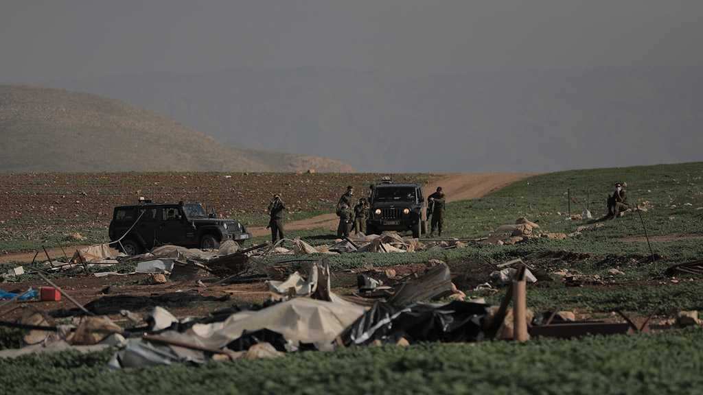 """Mastering Destruction of Life: """"Israel"""" Displaces more Palestinian Bedouins, Seizes their Tents"""