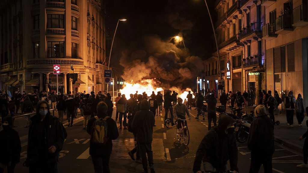 Violent Protests Continue in Spain Amid Clashes Between Police, Demonstrators