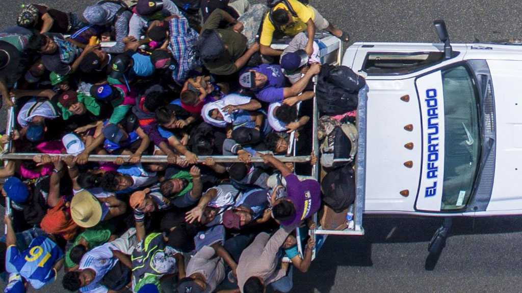 Three Trucks Packed with Hundreds of Migrants Stopped in Mexico