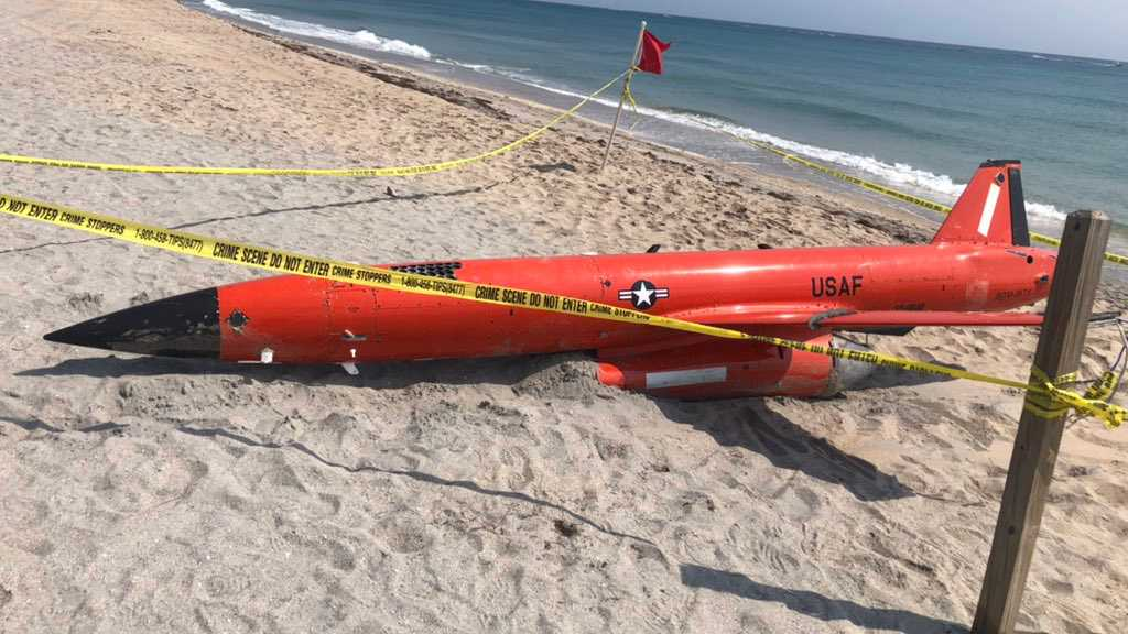 20-Foot-Long US Air Force Targeting Drone Washes Up on Florida Beach