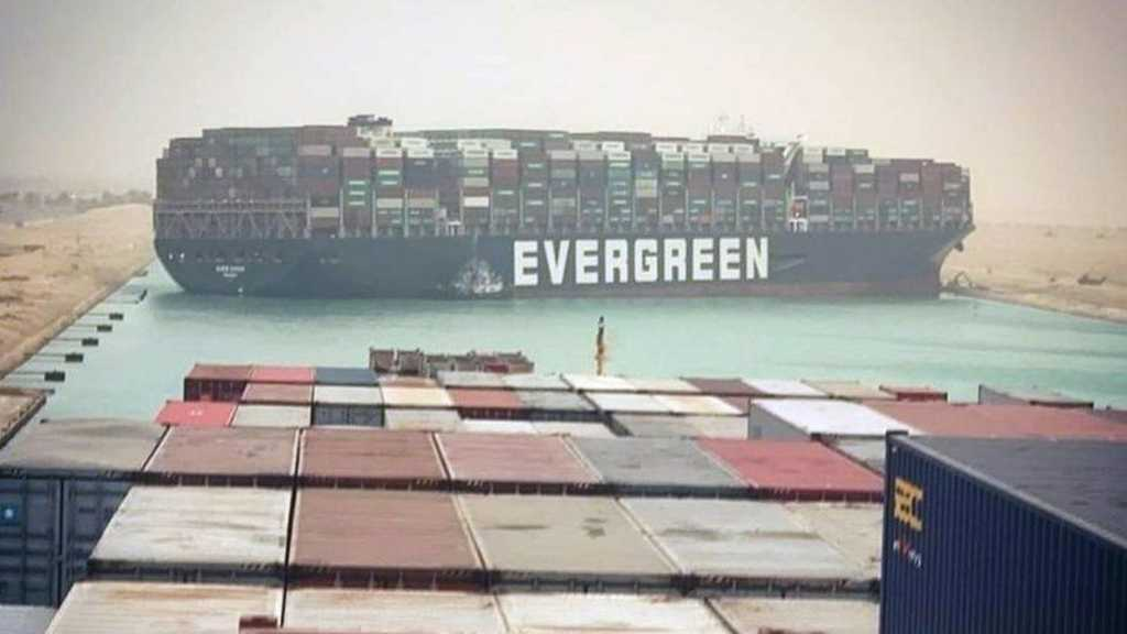 Huge Container Ship Gets Stuck Sideways in Egypt's Suez Canal, Blocking All Sea Traffic