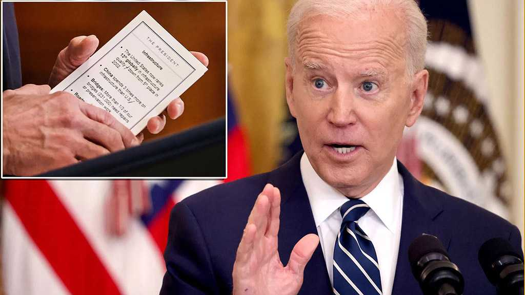 Netizens Clash as New Photos Reveal Cheat Sheets Used by Biden during Thursday Presser
