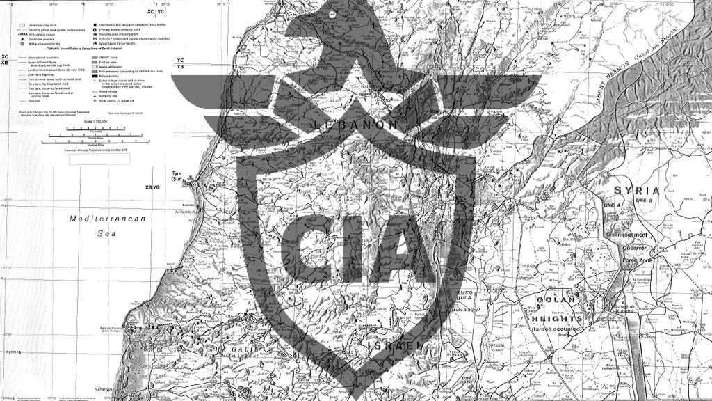 In Depth of CIA's Report on American-'Israeli' Geographic Perspective on South Lebanon Border