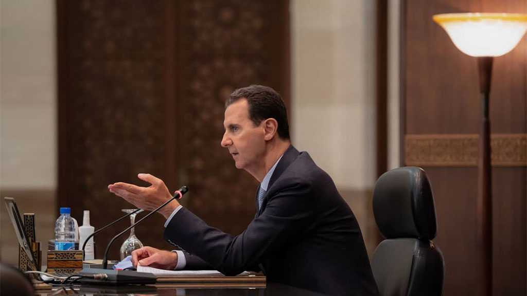 Assad Calls Slide in Syrian Pound Psychological War, Foreign Plot; Urges Production