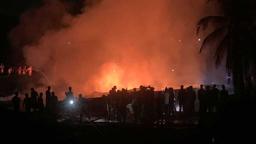 Fire at Rohingya Camp Market in Bangladesh Kills 3