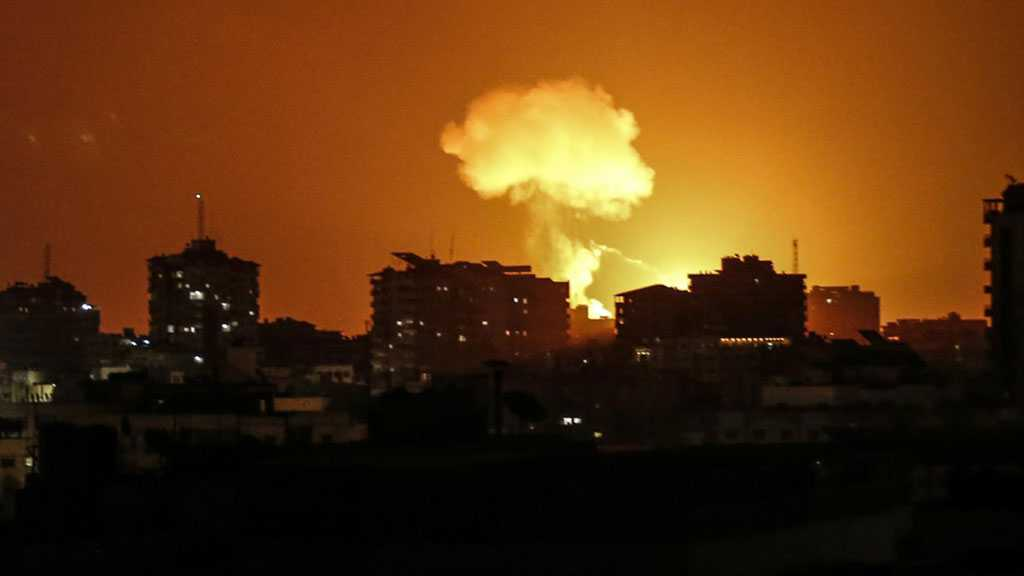 'Israeli' Warplanes Bomb Gaza for Second Consecutive Night