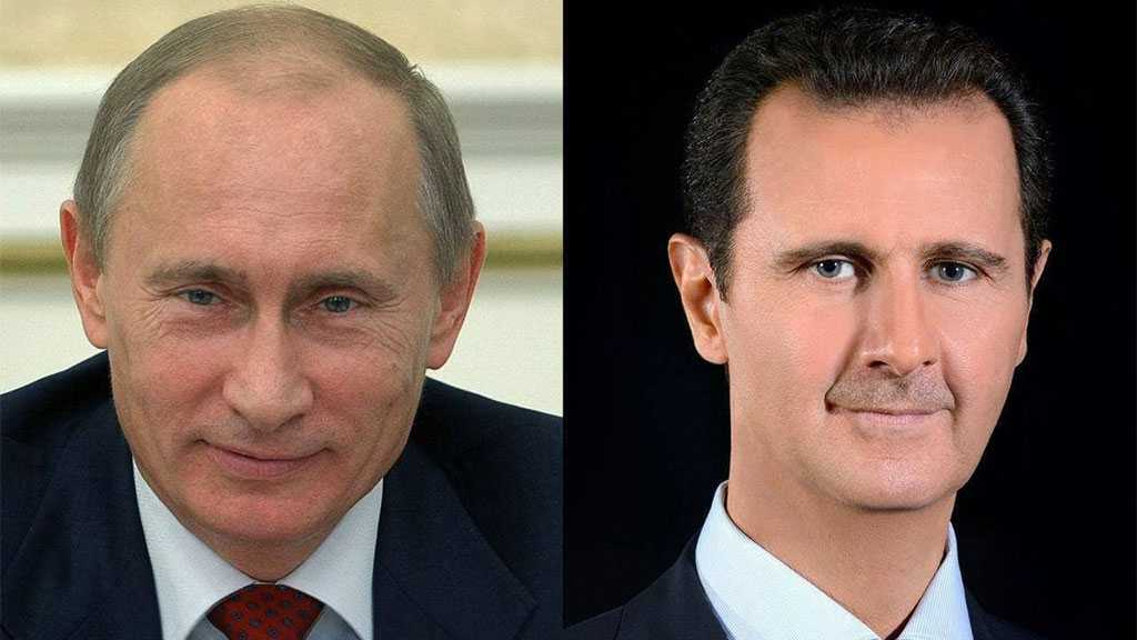Al-Assad, Putin Discuss Economic Cooperation, Combatting Pandemic