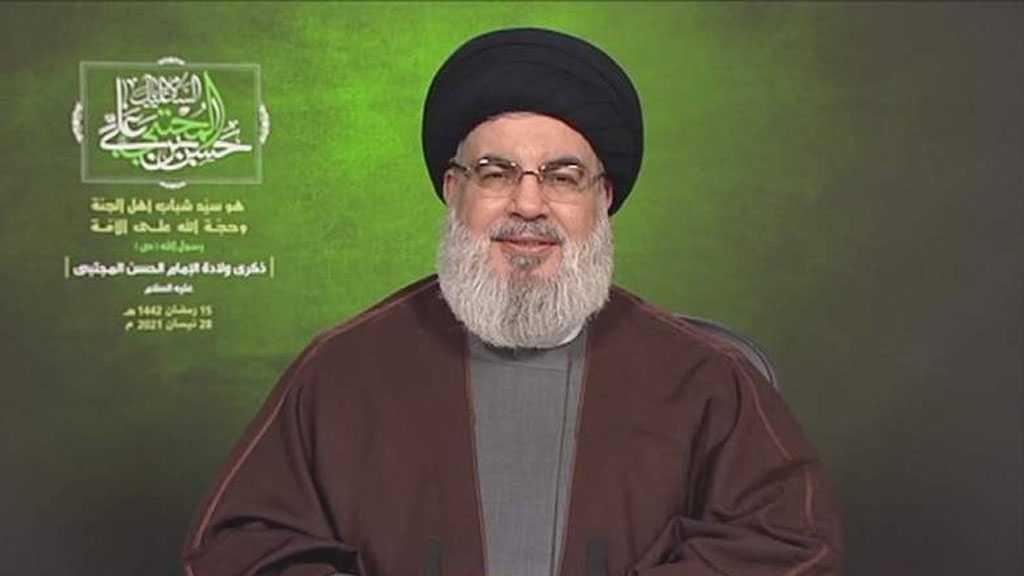 """Sayyed Nasrallah Praises Al-Quds People's Resistance against """"Israel's"""" Brutality"""