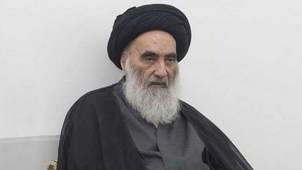 "Ayatollah Sistani Urges Supporting Palestinians against ""Israeli"" Aggression"