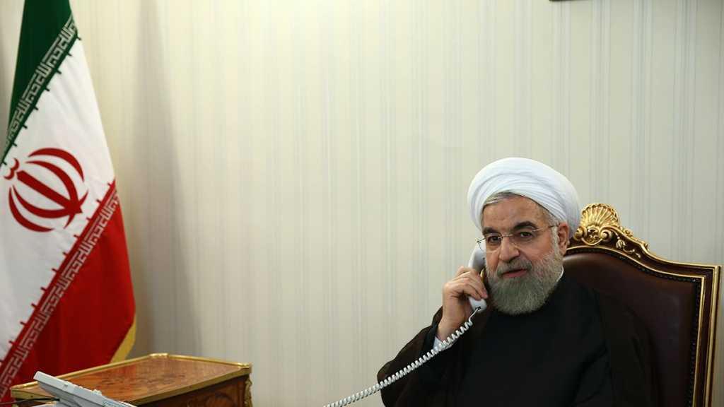 "Iran's Rouhani, Qatari Emir Urge Immediate End to ""Israeli"" Attacks on Palestinians"