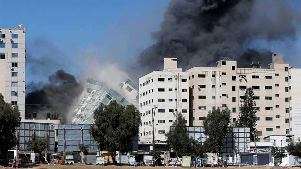 Cover-up Attempt: 'Israel' Attacks Gaza Tower Housing Media Offices