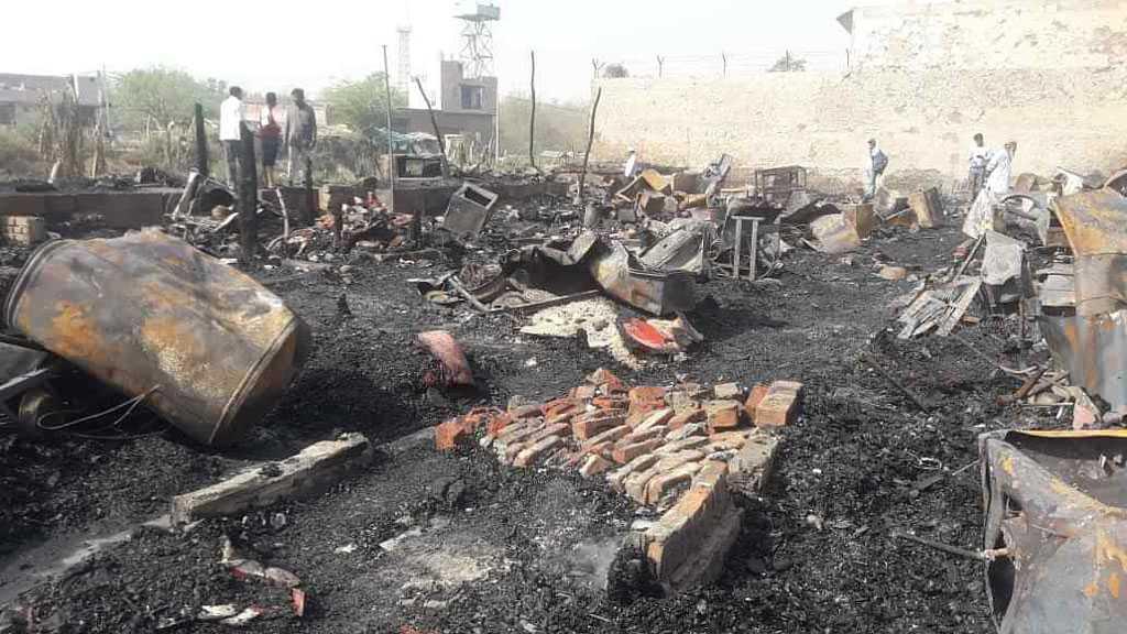 Fire Razes to Rubble Rohingya Refugees Camp in India's New Delhi
