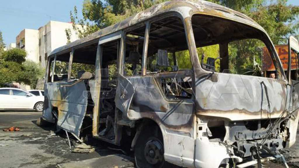 Syrian State Media: One Martyred in Military Bus Fire in Damascus