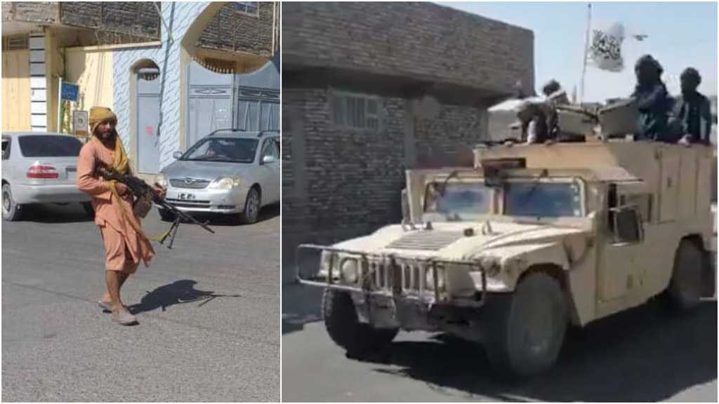 Taliban Militants Parade in US-Made Humvees after Seizing Afghan Provincial Capital