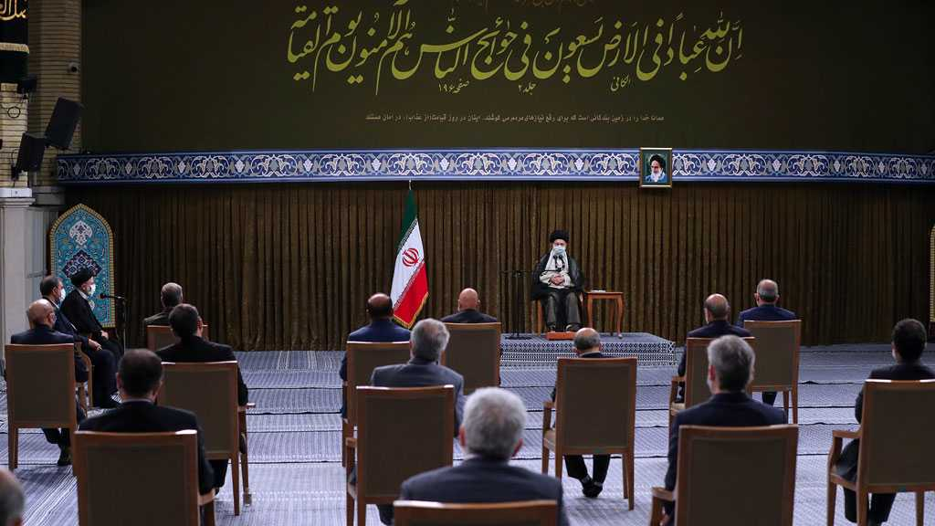 Imam Khamenei Receives Iran's New Cabinet, Recommends Using Every Hour to Serve People, Islam