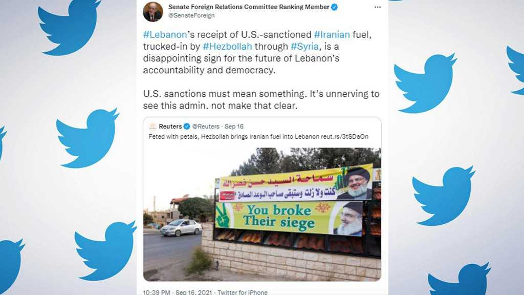 """US Sen. Says """"Unnerving"""" to See Sanctions Meaningless Amid Iran Fuel Shipments to Lebanon"""