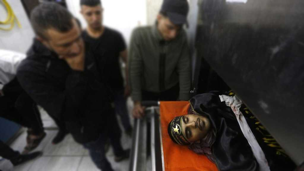 IOF Martyrs Young Palestinian Man in WB