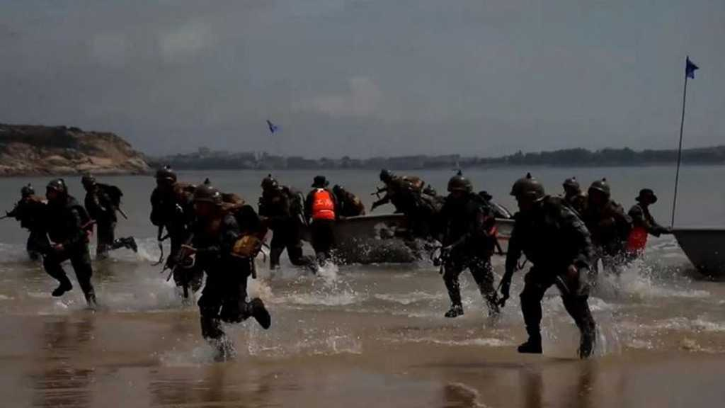 China Conducts Beach Landing Drills in Province Opposite Taipei