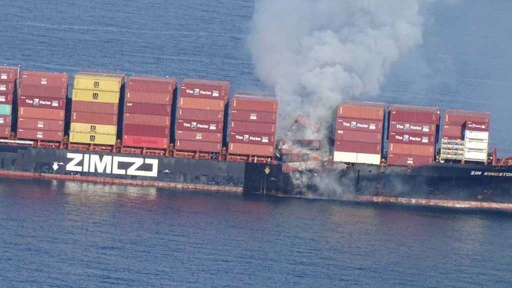 """Fire Breaks Out on """"Israeli"""" Container Ship with Chemicals Off Canada's Coast"""