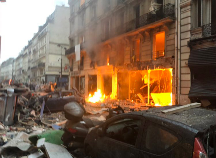 Several Injured as Gas Leak Sparks Explosion in Central Paris
