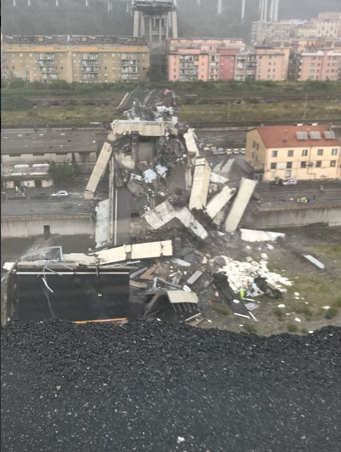 Italy Motorway Bridge Collapses Over Genoa, Dozens Feared Dead
