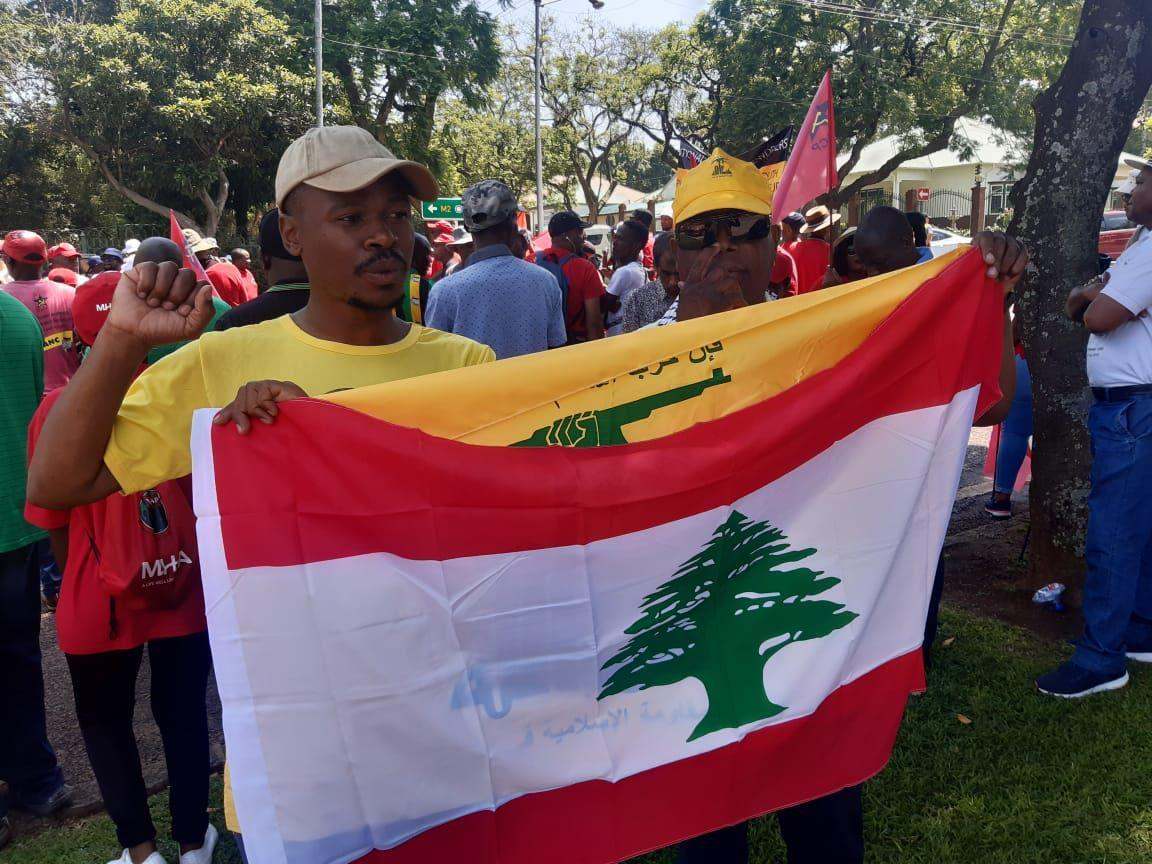 Rally in Front of US Embassy in South Africa against Soleimani's Assassination